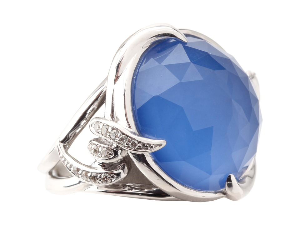 Stephen Webster Forget Me Knot Ring Silver/Blue Agate/Crystal Haze Ring