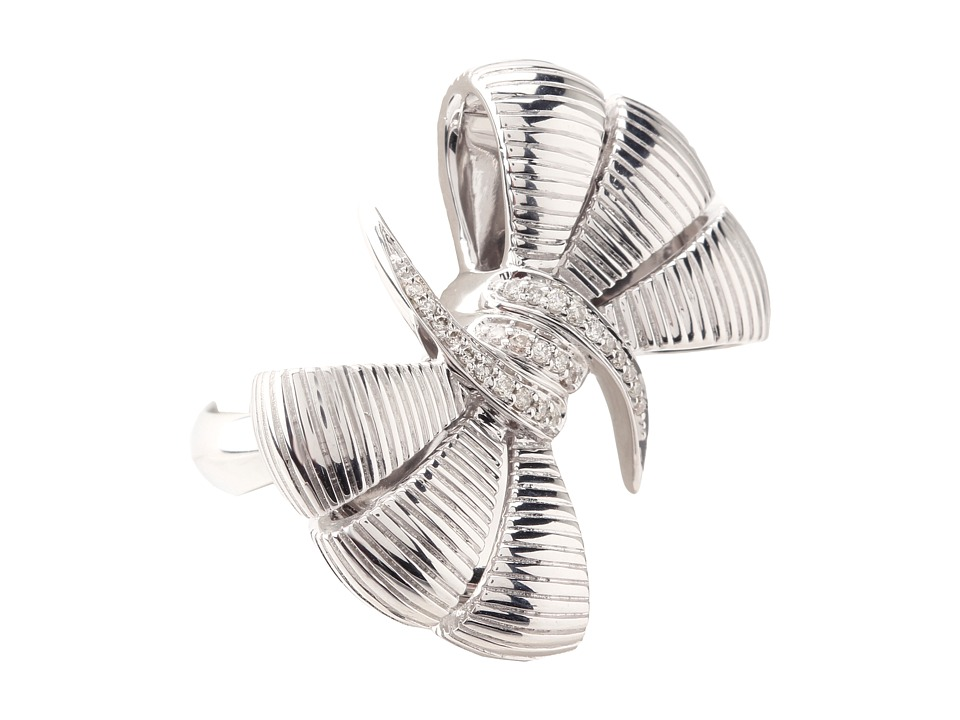 Stephen Webster Forget Me Knot Bow Ring Sterling Silver/White Diamonds Ring