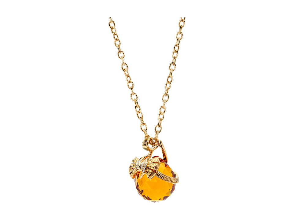 Stephen Webster Forget Me Knot Sterling Silver Pendant Topaz Necklace