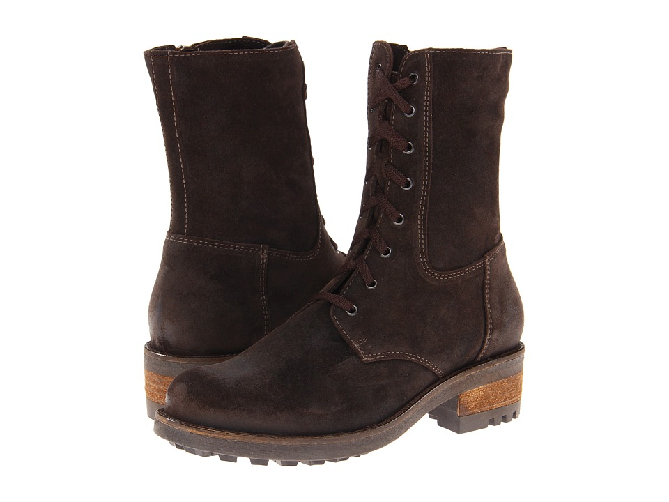 La Canadienne Carolina (Brown Oiled Suede) Women's Dress Boots