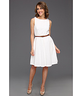 Jessica Howard - Eyelet Tank Dress with Full Skirt and Belt