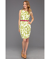 Jessica Howard - Pleated Tulip Skirt Dress with Belt