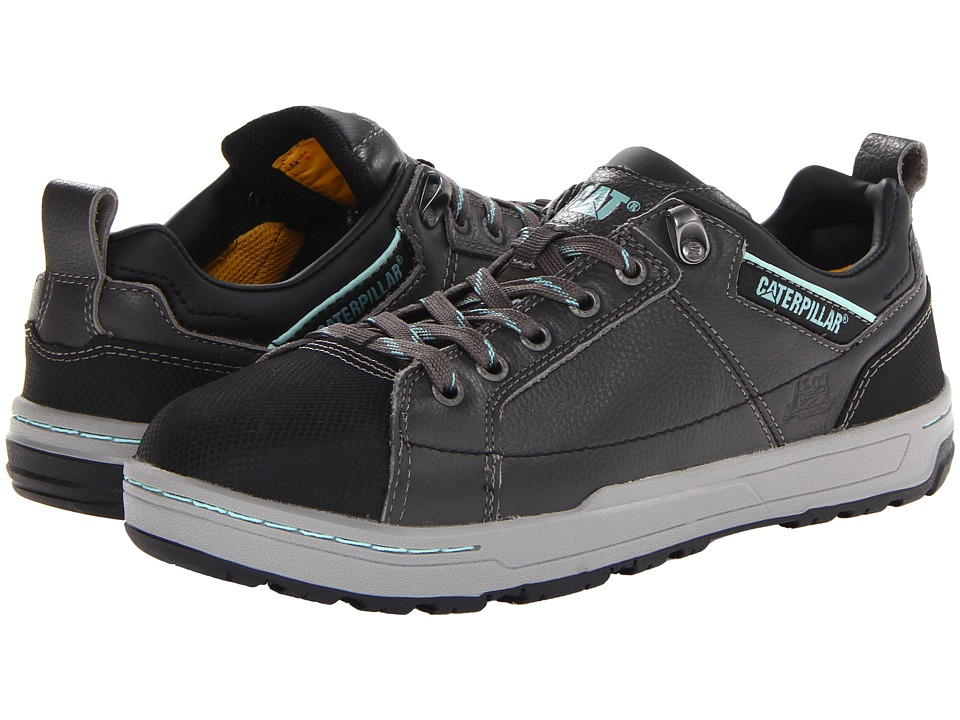 Caterpillar Brode ST Dark Grey/Mint Smooth Pigmented Leather Womens Industrial Shoes