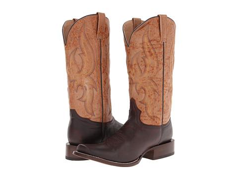 Stetson - 8 Row Stitch Hog Nose Boot (Crack Whiskey Vamp) - Footwear