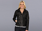 Cole Haan - Lambskin Jacket w/ Dimond Quilt (Black) - Apparel