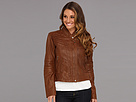 Cole Haan Washed Lamb Moto Jacket w/ Needle Stitch Details