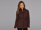 Cole Haan Signature Quilt Short Coat w/ Microsuede Trim