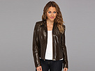 Cole Haan Sheen Lamb Zip Moto Jacket