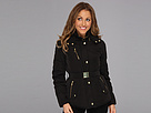 Cole Haan - Taffeta Down Belted Coat w/ Removable Hood (Black)