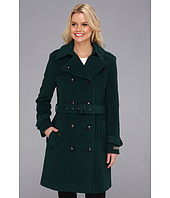 Cole Haan - Wool Plush Double-Breasted Trench