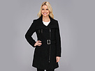Cole Haan Asymmetrical Belted Coat w/ Exposed Zipper