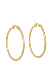 LAUREN Ralph Lauren - Large Chain Click Hoop Earrings