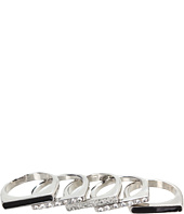 GUESS - 5 Piece Flat Band Ring Set