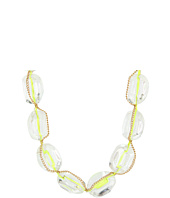 GUESS - Lucite Bead with Chain and Ribbon Necklace
