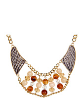 GUESS - Snakeskin and Bead Statement Necklace