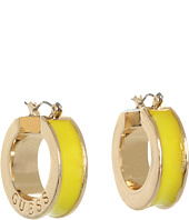 GUESS - Small Wide Enamel Hoop Earrings