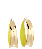 GUESS - Medium Inside Enamel Hoop Earrings