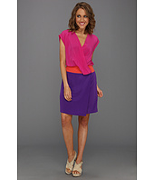Donna Morgan - Mock Wrap Color Block Dress