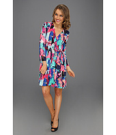 BCBGMAXAZRIA - Petite Adele Printed Wrap Dress