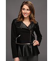 Patterson J Kincaid - Mary Peplum Moto Jacket