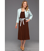 Jessica Howard - 2-Piece Embroidered Linen Jacket Dress