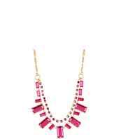 Betsey Johnson - Iconic Baguette Crystal Frontal Necklace