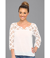 Lucky Brand - Petunia Eyelet Elbow Sleeve Top
