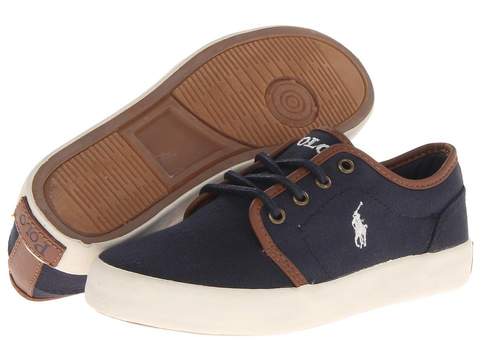 Polo Ralph Lauren Kids - Ethan Low FA13 (Little Kid) (Navy Ballstic Canvas) Boys Shoes