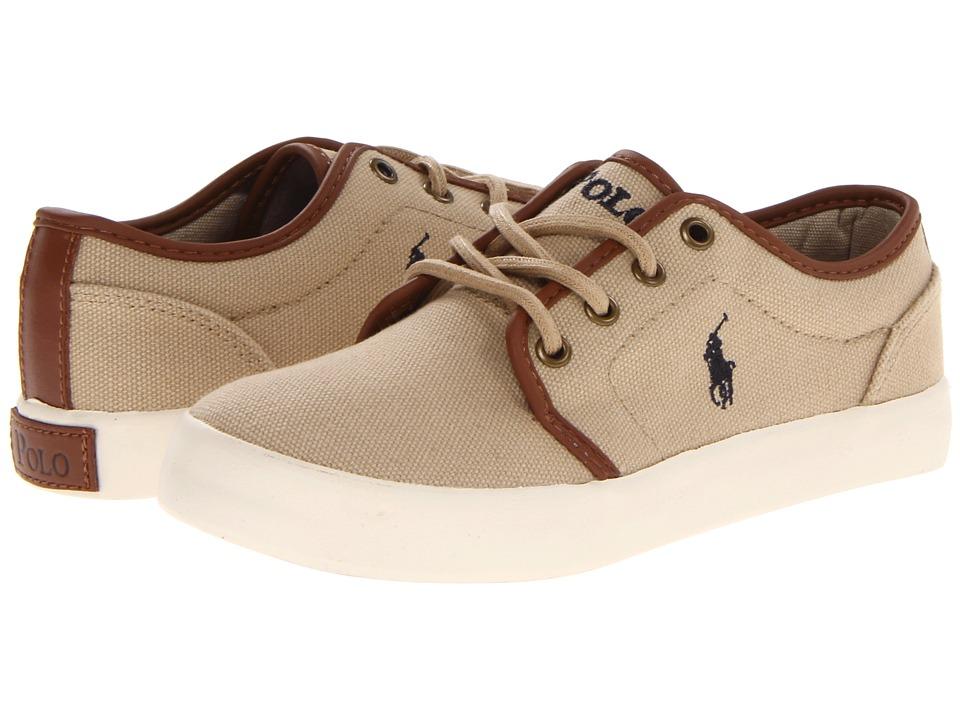 Polo Ralph Lauren Kids - Ethan Low FA13 (Big Kid) (Khaki Ballstic Canvas) Boys Shoes