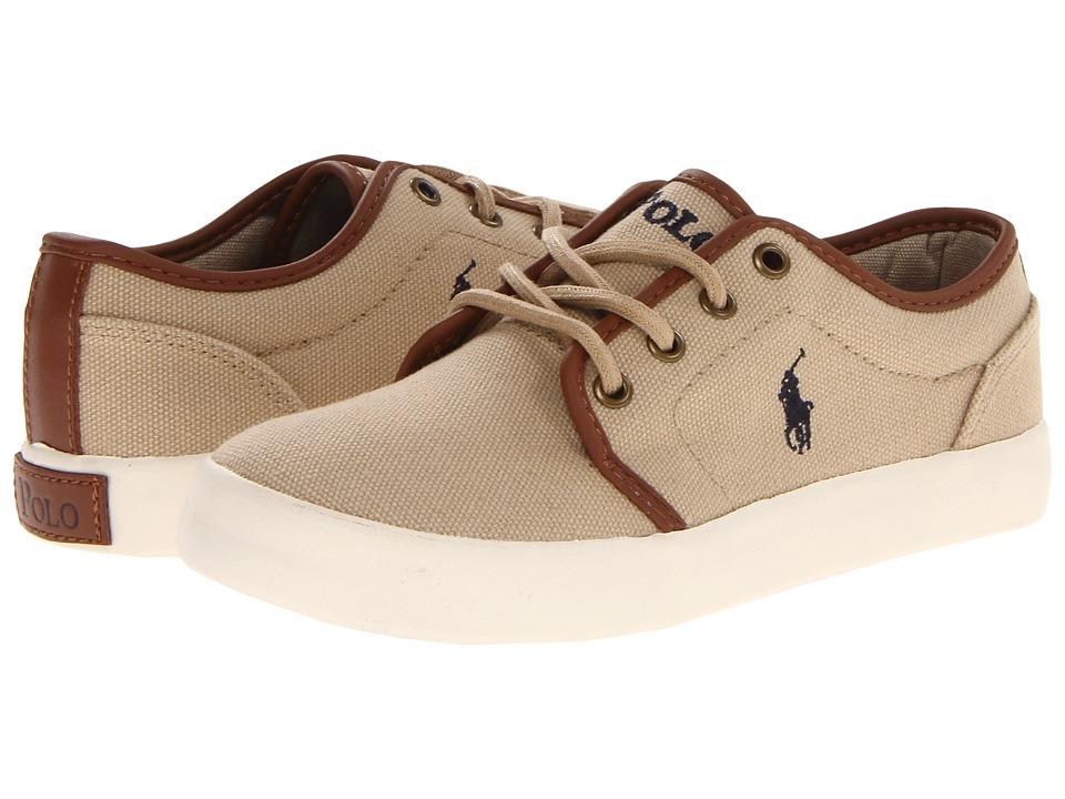 Polo Ralph Lauren Kids - Ethan Low FA13 (Little Kid) (Khaki Ballstic Canvas) Boys Shoes