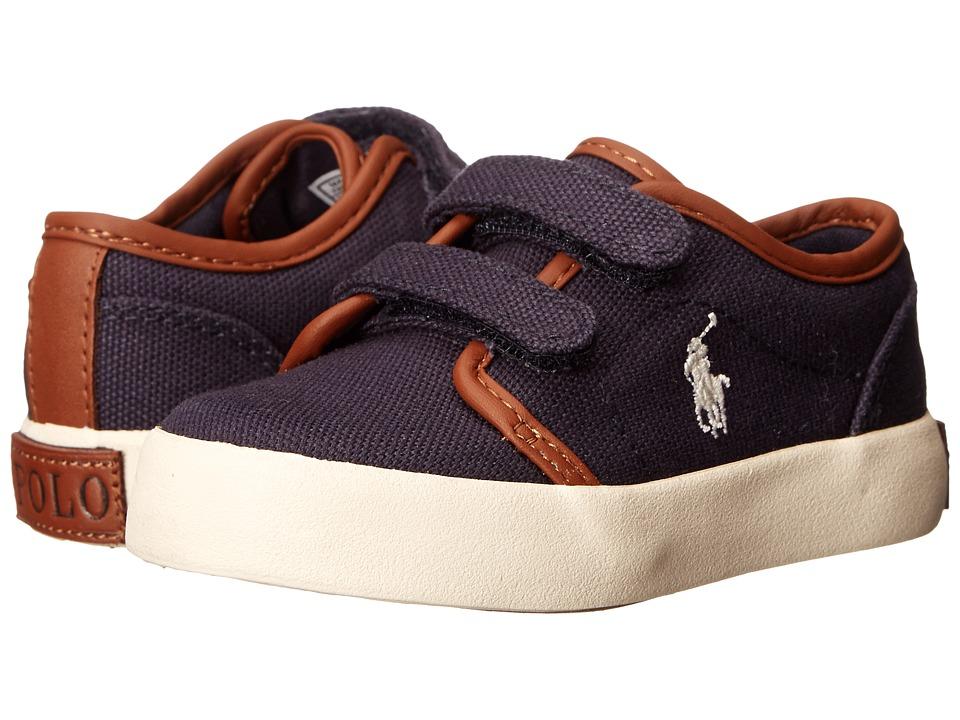 Polo Ralph Lauren Kids Ethan Low Ez FA13 Toddler Navy Ballistic Canvas Boys Shoes