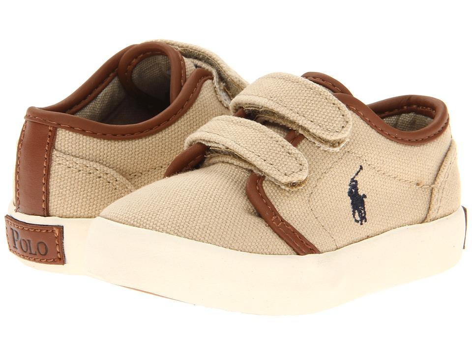 Polo Ralph Lauren Kids Ethan Low Ez FA13 Toddler Khaki Ballistic Canvas Boys Shoes