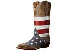 Roper American Flag Snip Toe (Brown)
