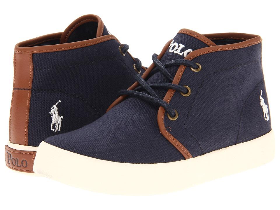 Polo Ralph Lauren Kids - Ethan Mid FA13 (Little Kid) (Navy Ballistic Canvas) Boys Shoes
