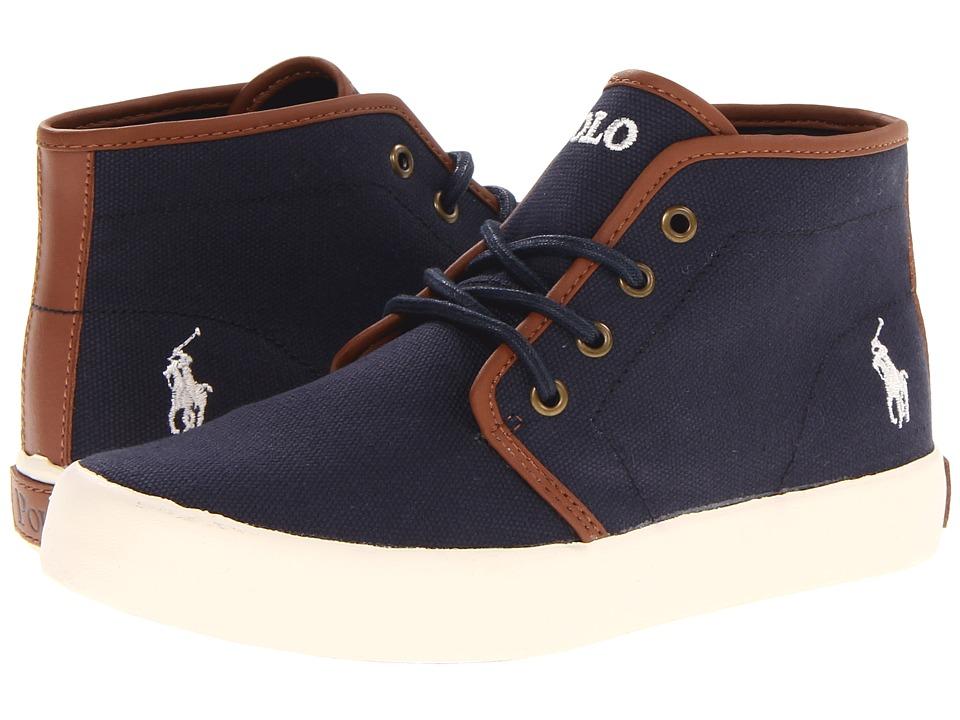Polo Ralph Lauren Kids - Ethan Mid FA13 (Big Kid) (Navy Ballistic Canvas) Boys Shoes