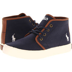 Image of Polo Ralph Lauren Kids - Ethan Mid FA13 (Big Kid) (Navy Ballistic Canvas) Boys Shoes