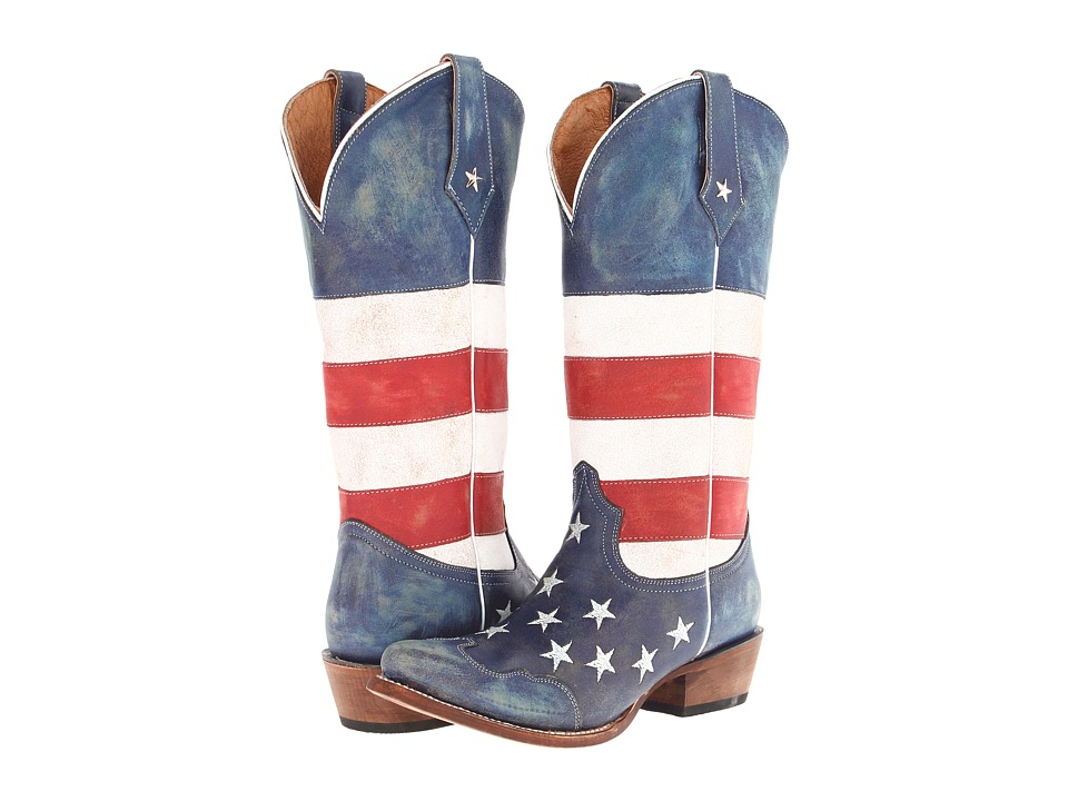 Roper American Flag Snip Toe (Red/White/Blue) Cowboy Boots