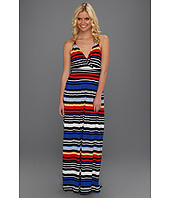Vince Camuto - Bright Stripe Wrap Maxi Dress