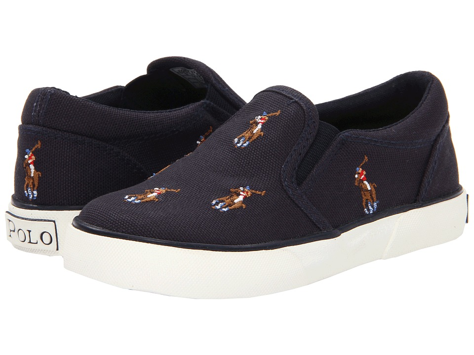 Polo Ralph Lauren Kids Bal Harbour Repeat FA13 (Toddler) (Navy Canvas/Multi Colored Pony) Boys Shoes