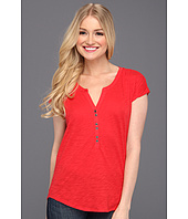 Lucky Brand - Marina Ruched Sleeve Top