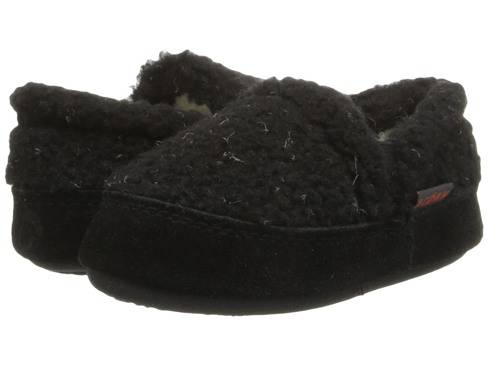 Acorn Kids Colby Gore Moc Toddler/Little Kid/Big Kid Black Berber Boys Shoes
