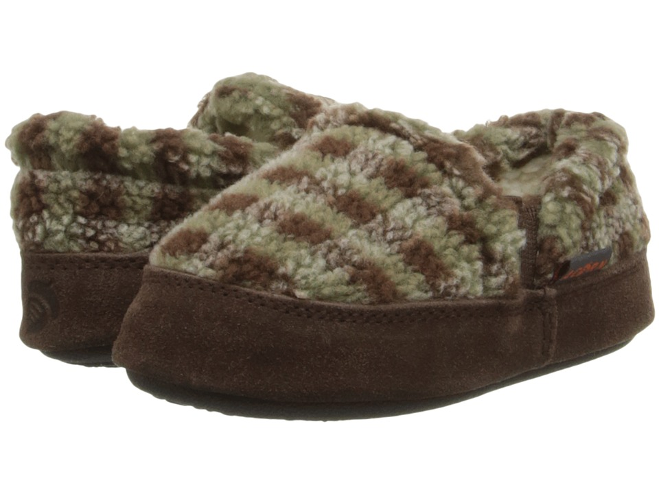 Image of Acorn Kids - Colby Gore Moc (Toddler/Little Kid/Big Kid) (Brown Check) Boys Shoes