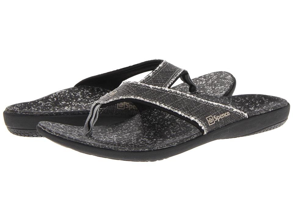Spenco - Yumi Sandal (Black Canvas) Men's Sandals
