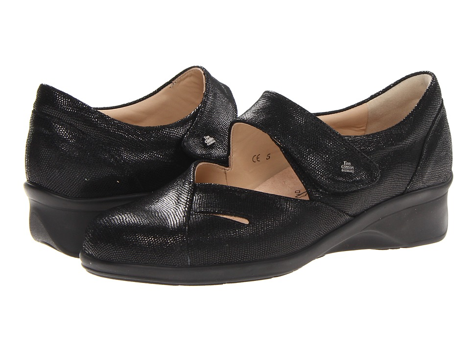 Finn Comfort Aquila Black Womens Shoes