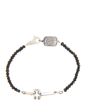 King Baby Studio - Black Agate Bracelet with Classic Dagger