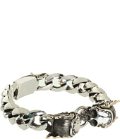 King Baby Studio - Two-tone Double Mercury Rivet Skull Bracelet