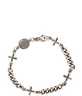 King Baby Studio - Ancient Cross Chain Bracelet with Skull Vintage Coin