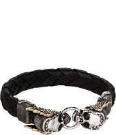 King Baby Studio - Leather Bracelet with Mercury Skull Alloy Wings