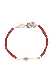 King Baby Studio - Ruby Bracelet with MB Cross Dagger