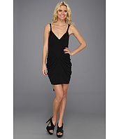 BCBGMAXAZRIA - Terrianne Deep V-Neck Draped Dress
